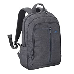 RivaCase 7560 Canvas Backpack for 15.6-inch Laptop (Grey)