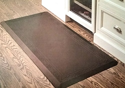 Anti-fatigue Kitchen Mat Novaform 20x42 Relieves Discomfort on Lower Back, Legs & Feet-Brown