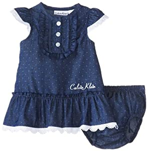 Calvin Klein Baby-Girls born Chambray Dress with Panty from Calvin Klein
