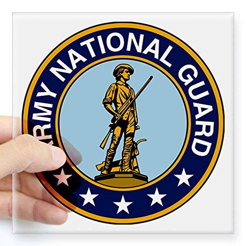 CafePress - Army National Guard Seal Sticker - Square Bumper Sticker Car Decal, 3
