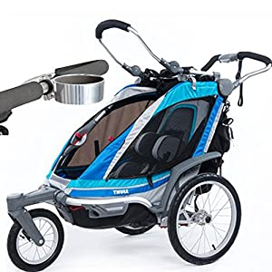 Thule Chariot Chinook 1 Child Carrier with Strolling Kit and Cup Holder - Aqua