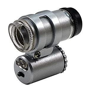 SE MW10087L Mini Brass Microscope with Illuminator