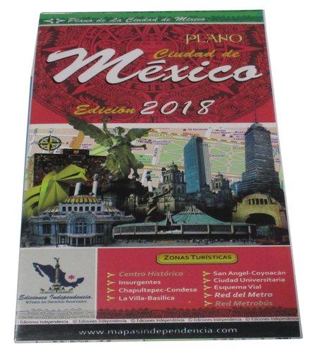Mexico City, Mexico, 2018 Edition City Map  [Ediciones Independencia] (Tapa Blanda)
