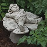 Large Garden Ornaments - Pixie on Mushroom Stone Statue