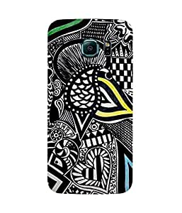 Abstract Black And White Print Samsung Galaxy S6 Edge Case