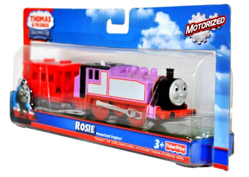 Fisher Price Year 2010 Thomas and Friends Trackmaster Motorized Railway Battery Powered Tank Engine 2 Pack Train Set - ROSIE with Red Brake Van (T4608)