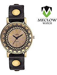 Latest Design Black Belt Leather Belt Watch, Round Copper Dial Analog Watch For Girls, Ladies And Womens Fashionable...