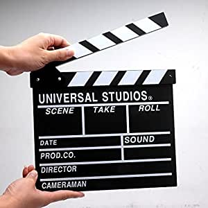 Hand Made Universal Studios Movie Director's Clap Board Clapper Clapboard