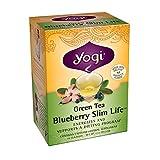 Yogi Blueberry Slim Life Green Tea, 16 Tea Bags (Pack of 6) ~ YOGI