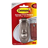 Command Timeless Large Plastic Hook with Metalic Brushed Nickel Finish