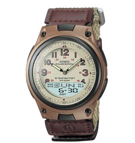 Casio Mens World Time Ana-Digi Data Bank 10-Year-Battery Watch #AW80V-5BV