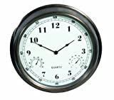 Weathereye WEA5 16-inch Outdoor Clock/ Thermometer/ Hygrometer