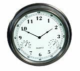Weathereye WEA5 16-inch Outdoor Clock/ Thermometer/ Hygrometer
