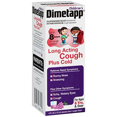 Dimetapp Children's Long Acting Cold & Cough Antihistamine & Cough Suppressant (Grape Flavor, 4 fl. oz. Bottle) (Dimetapp Grape compare prices)