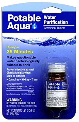 Potable Aqua Water Treatment Tablets,50 Tablets (Pack of 3)