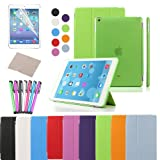 EASYPLACE Smart Cover + Cover posteriore VERDE per Apple iPad AIR 2 Custodia Poliuretano slim più back cover...