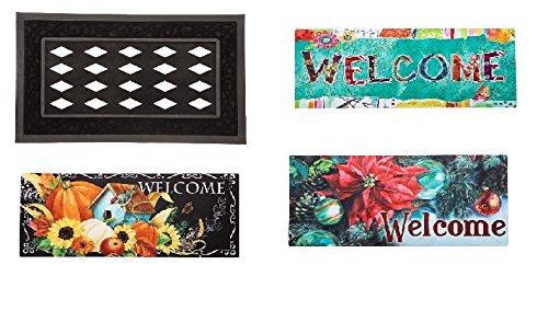 evergreen-seasonal-decorative-door-mat-assortment-3-styles-and-mat-frame