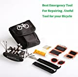 CrazyEve® Portable Cycling Bike Bicycle Tube Tire Repair Kit Tool Bag with Multi-function Tool And Waterproof Bag