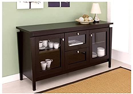 Dining Room Contemporary Coffee Bean Buffet Cabinet