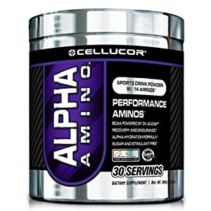 Cellucor Alpha Amino Ice Blue Razz 30 Servings,13.3oz.