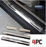Stainless Steel Door Sill Scuff Plate Trim For 2012 Ford Focus Hatchback Sedan