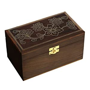 Large wooden jewelry box for women indian for Girls large jewelry box