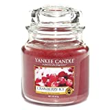 Yankee Candle Medium Jar Candle, Cranberry Ice