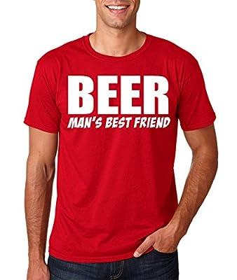 Tee-O-Rama Beer Man's Best Friend | Funny Beer Drinking Premium Men's T-Shirt