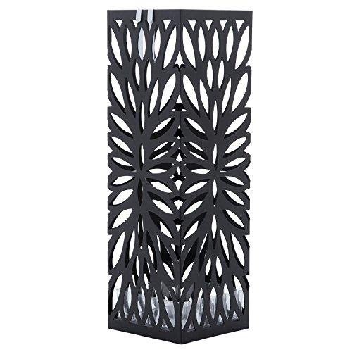 Songmics 49cm nero porta ombrelli portaombrelli in ferro for Amazon portaombrelli