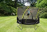 Plum Products Kids Whirlwind Trampoline and 3G Enclosure - Black, 10 Ft