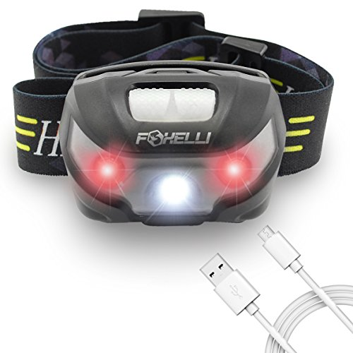 Foxelli USB Rechargeable Headlamp Flashlight - Provides up to 30 Hours of Constant Light on a Single Charge, Super Bright White Led + Red Light, Compact, Easy to Use, Lightweight & Comfortable (Super Charge Energy compare prices)