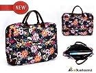 14 inch Laptop Bag Universal Messenger Bag Briefcase for Dell XPS 14z - Floral Print. Bonus Ekatomi Screen Cleaner Sticker