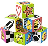 Spongy cubes with sound ( 6 pieces)