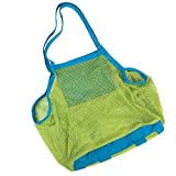 Pardus™ Brand and New Beach Mesh Bag Sand Away Carrier Tote (Swim, Toys, Boating, Etc.) Stay Away From Sand -XL Size (Green)