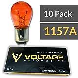 (10 Pack) 1157A 1157NA 1157 Amber Automotive Brake Light Turn Signal Side Marker Light Bulb - Voltage Automotive - OEM Replacement