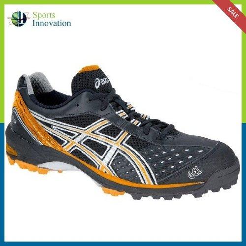 Asics Hockey Shoes- Gel-Hockey Neo Men's - Black/Orange/Silver- Size UK 10