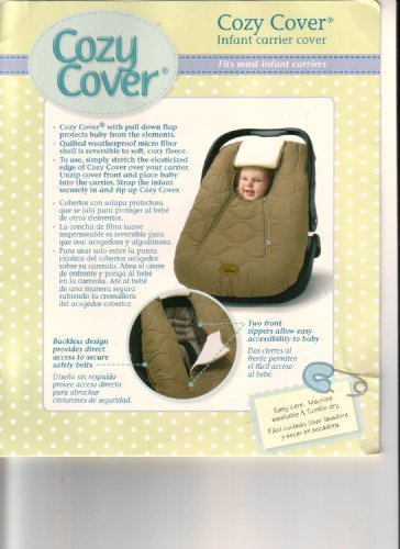 COZY COVER INFANT CARRIER COVER MICRO FIBER BROWN