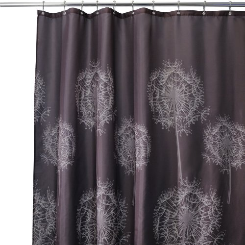 Shower Curtains Store Interdesign Dandelion Shower Curtain Cocoa 72 Inches X 72 Inches