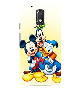 Evaluze mickey duck Printed Back Cover for MOTO G4 PLAY