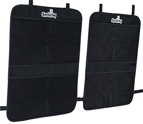 Smiinky Kick Mats with 2 Extra Large Organizer Pockets Covers for Cars (Car Organizer Freddie compare prices)