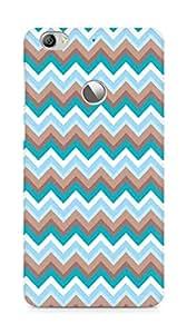 Amez designer printed 3d premium high quality back case cover for LeEco Letv Le 1S (zig zag colourful )