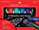 Faber-Castell Metallic Gel Sticks 6ct