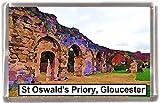 St oswalds priory gloucester Gift Souvenir Fridge Magnet
