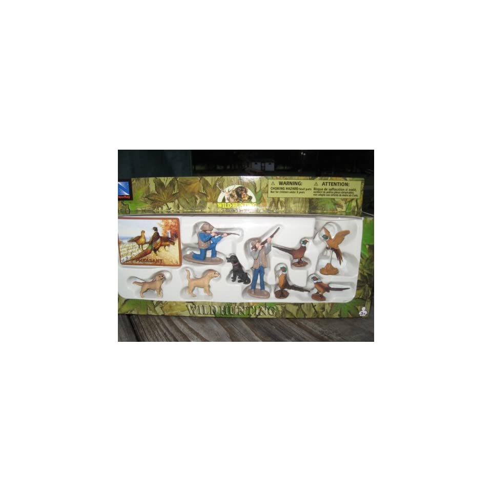 Pheasant Hunting Play Set with Hunters Wild Animals and All the Accessories