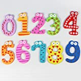 GOTD Magnetic Wooden Numbers Math Sets Fridge Magnets For Kids Children Preschool Home School Daycare
