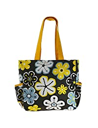 Printed Shopping Bag, 3 Pockets, Satin Lining, Zipper Closing - B015GWR02W