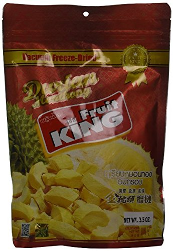 Fruit King Durian Chips,Vacuum Freeze Dried Durian Fruit - 3.5 Oz (2 Bags). (Freeze Dried Chicken Honeyville compare prices)
