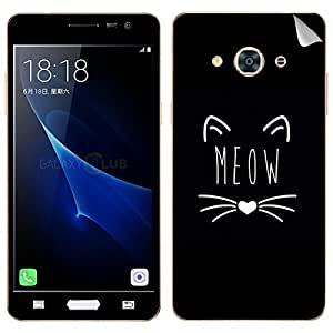 Theskinmantra MEOW Samsung Galaxy J3 Pro SKIN/DECAL (NOT A BACK COVER)