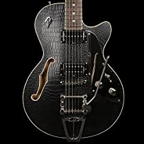 Duesenberg Starplayer TV Outlaw Semi Hollow Electric Guitar Black with Hard Case