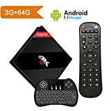 [Powerful 3GB / 64 GB] Android 7.1 TV BOX with Wireless Backlit Keyboard, EstgoSZ Smart Google TV Box 3G/64G Amlogic S912 Octa Core 64 bits with Dual Band WIFI 1000M LAN, 2018 Top Android Tv Box